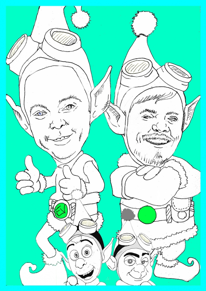 Mark Hamill, Jim Parsons by nev777